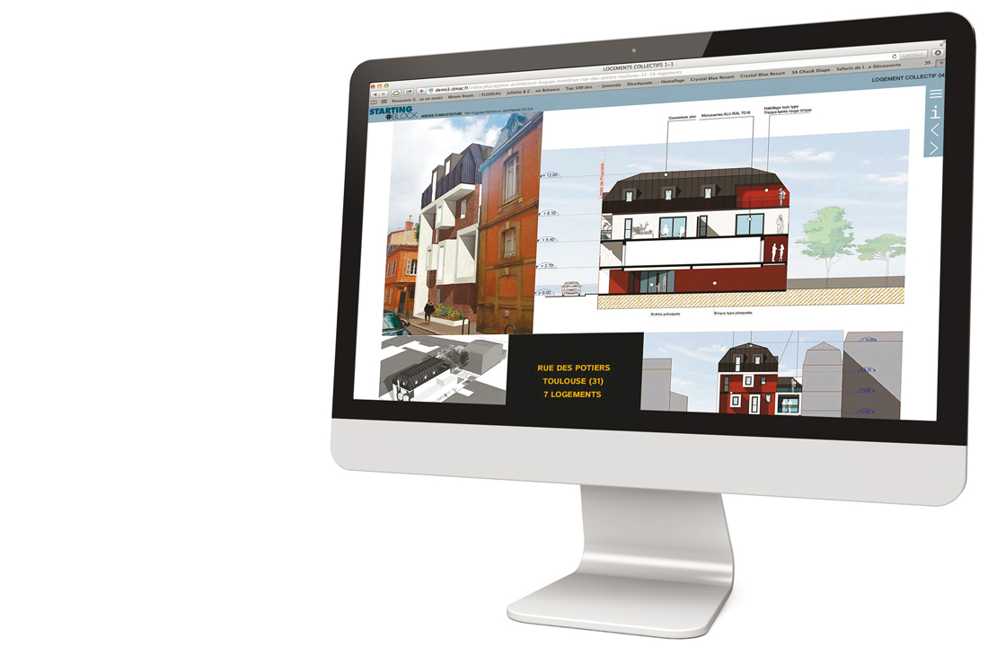 site internet vitrine commerce architecte cabinet architecte toulouse